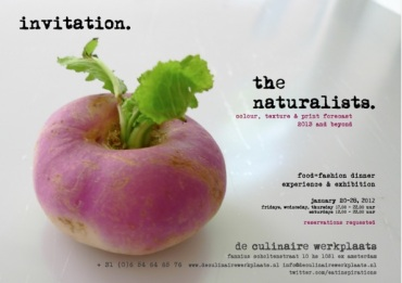 Invitation the naturalists - De Culinaire Werkplaats
