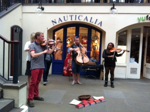 String Quartet Abraxas, Covent Garden, Amanda Drummond - by DLCS
