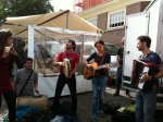 Friends (Katapulta) playing Italian & Gipsy tunes at the Noordermarket